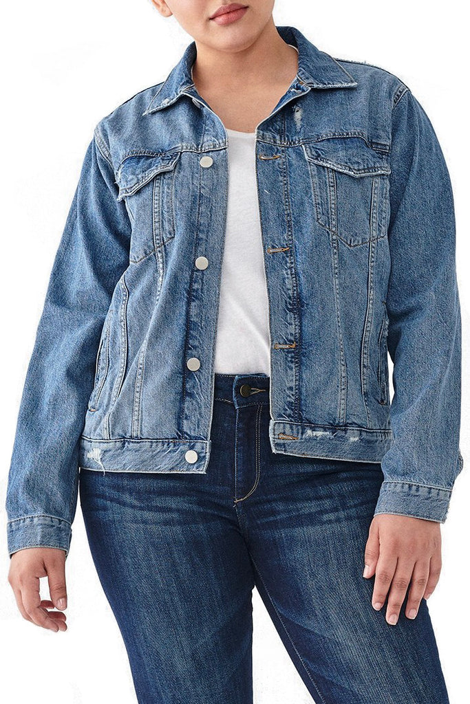 'Clyde' Denim Trucker Jacket | Jessimara London
