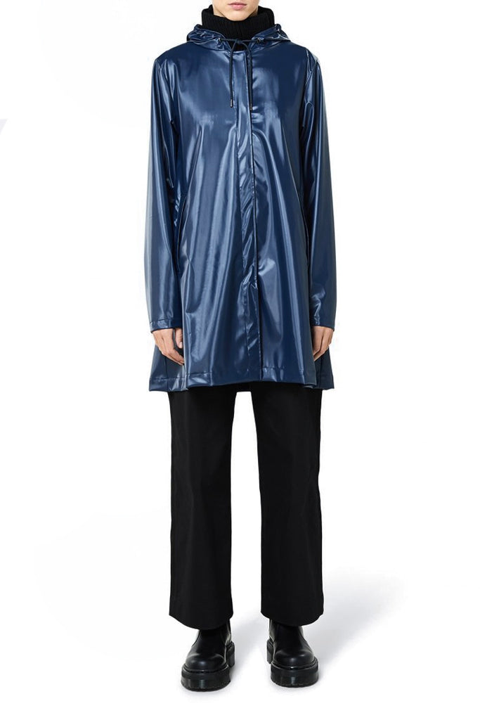 Shiny Blue Lightweight Jacket | Jessimara London