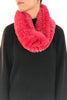 Coral Pink Knitted Real Rex Rabbit Fur Single Snood