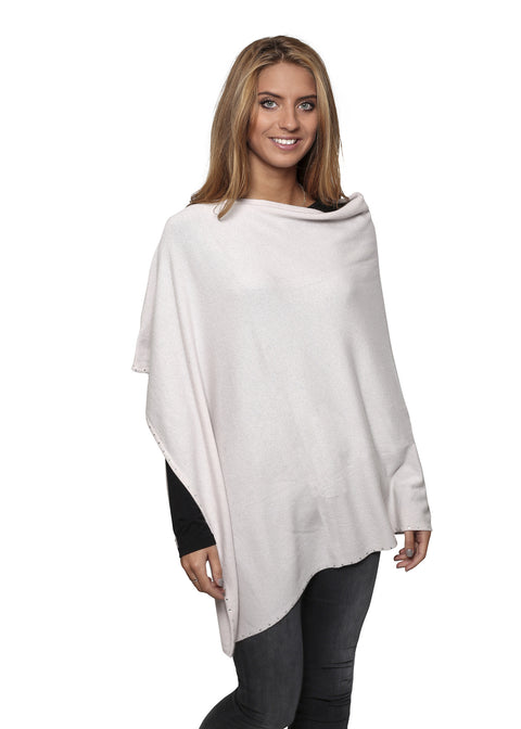 Jessimara silver dove 'Finch' poncho with diamonds | Jessimara London