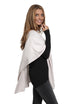 Jessimara silver dove 'Finch' poncho with diamonds