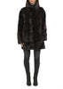 Dark Brown High Neck 'Panelled Effect' Mink Coat Jessimara Fur - Jessimara