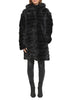 Jessimara Dark Grey Mink Fur Hooded Coat/Gilet Jessimara - Jessimara