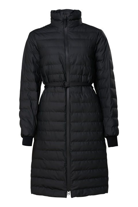 Black Waterproof Long Coat