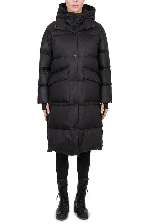 'Sanford' Long Black Puffer Jacket