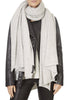 'Linus' Grey Cashmere Wrap Scarf | Jessimara London