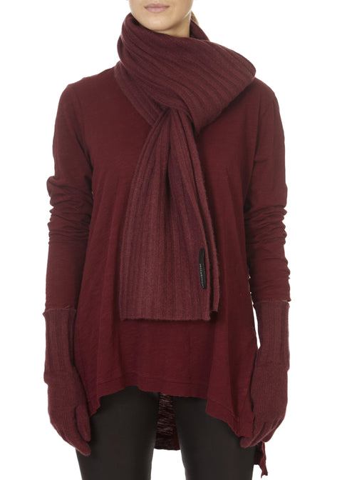 'Giada' Ribbed Merlot Scarf | Jessimara London