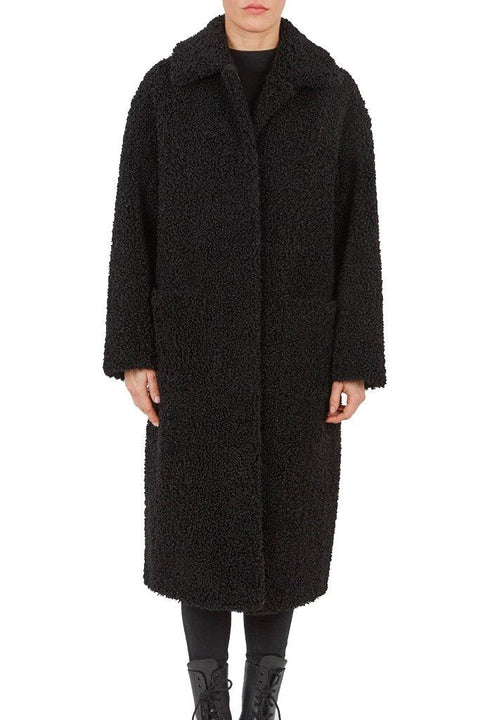 'Suzy' Black Faux Fur Jacket