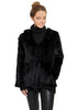 Fur 5 Eight Knitted Real Rex Rabbit Fur Hooded Jacket Fur 5 Eight - Jessimara