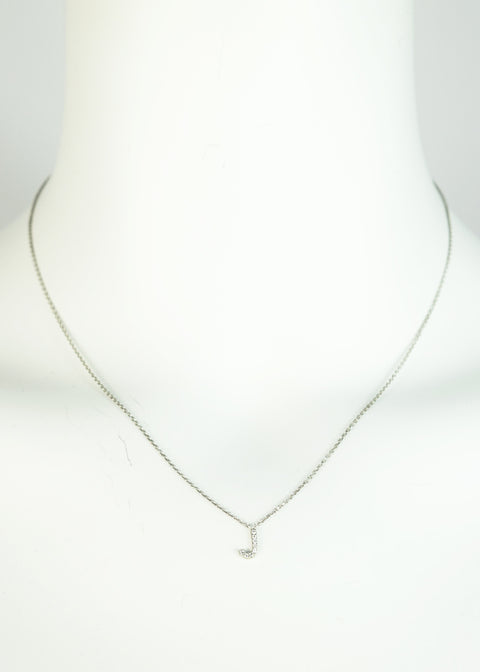 Sterling Silver Letter 'J' Necklace - Jessimara