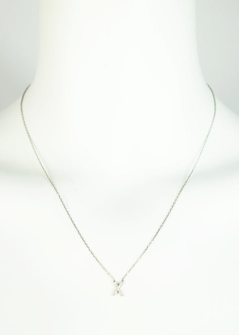 Sterling Silver Letter 'X' Necklace - Jessimara