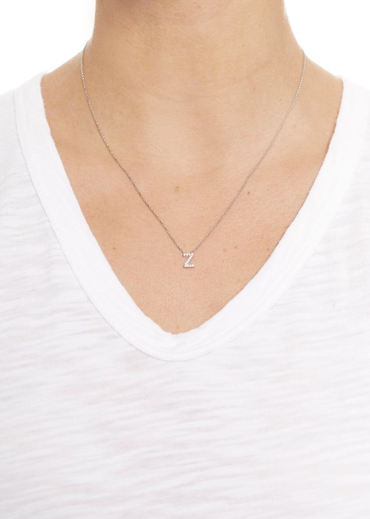 Sterling Silver Letter Z Necklace | Jessimara London