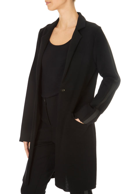 'Lando' Black Pleated Jacket