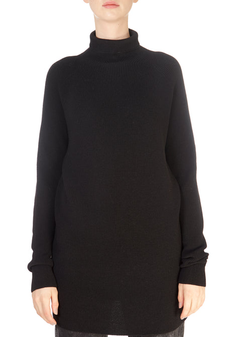 'Heda' Black Polo Jumper | Jessimara London