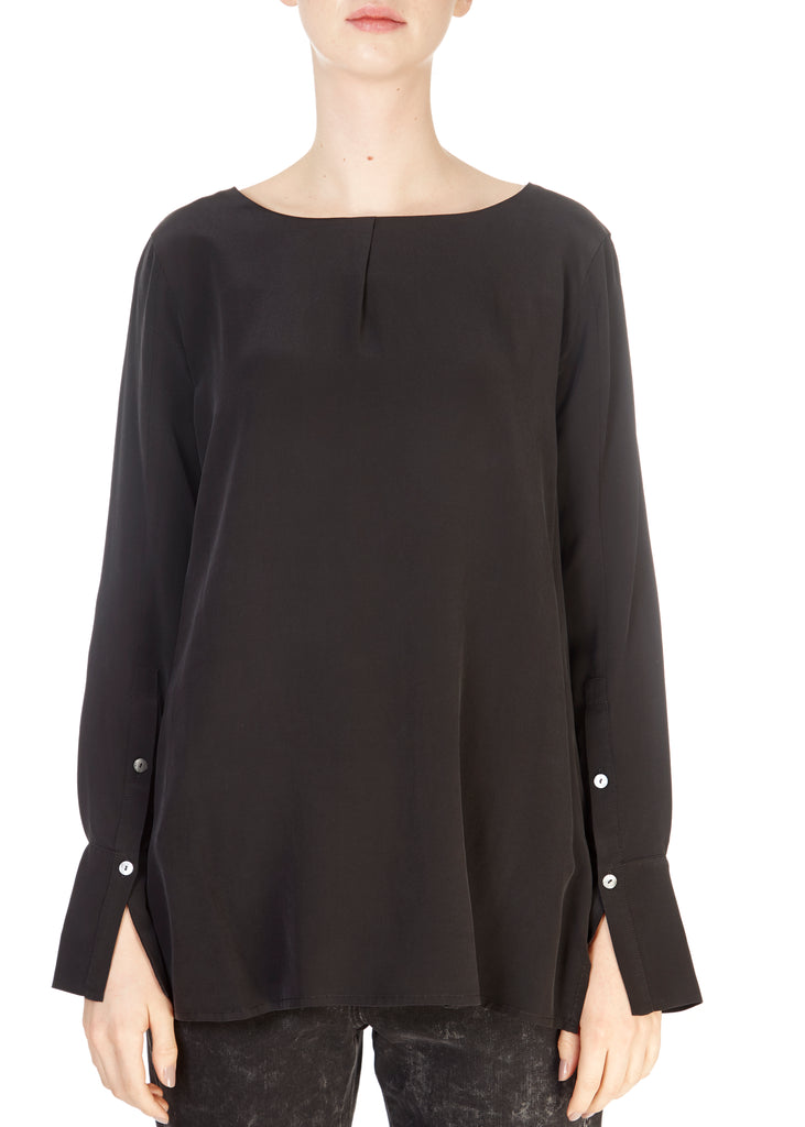 'Sally' Black Long Sleeve Top | Jessimara London