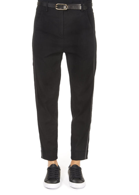 'Stone' Black Stretch Trousers | Jessimara London