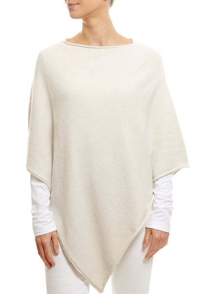 Cream Round Neck Poncho | Jessimara London