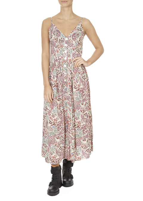 'Paisley' Blush Floral Midi Dress | Jessimara London