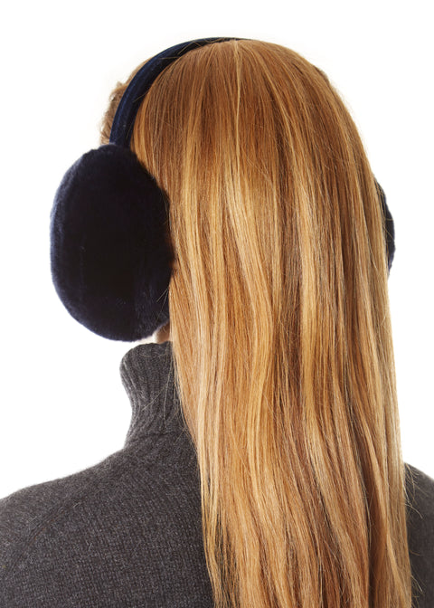 Black Rabbit Ear Muffs