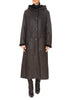 Brown Sheepskin Reversible Coat | Jessimara London