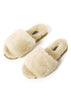 Deep Classic Cream Luxury Sheepskin Slipper Slides | Jessimara London