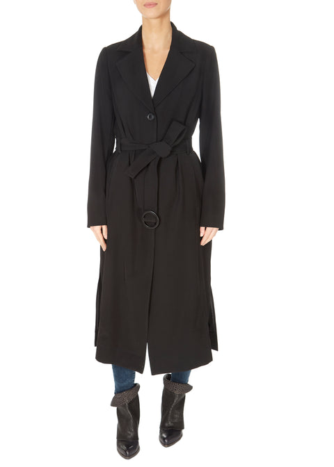 Black Extra Long Raincoat