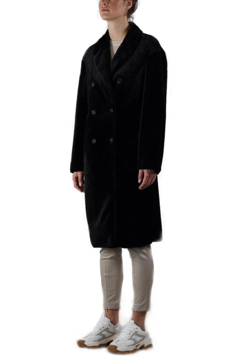 'Dakin' Black Fur Long Coat