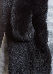 Jessimara Black Fox and Rabbit Fur Scarf