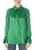 'Pauline' Bright Green Silk Shirt | Jessimara London
