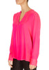 'Santena' Shocking Pink Silk Blouse | Jessimara London