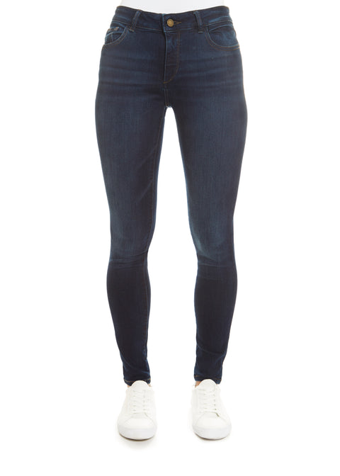 Dark Denim 'Florence' Warner Skinny Jeans | Jessimara London