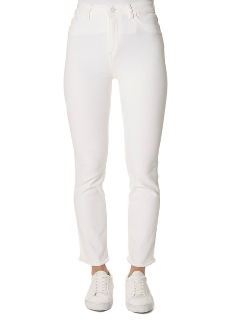 'Mara' Cropped White Jeans