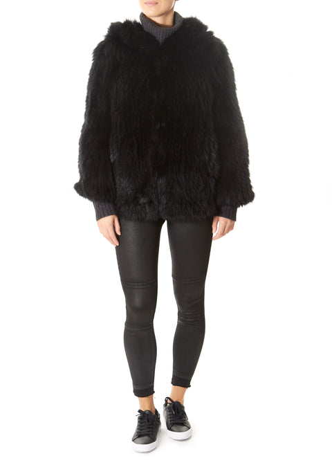 Black Fox Hooded Jacket