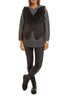 Grey To Black Knitted Rabbit Dip Dye Gilet Jessimara Fur - Jessimara