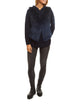 Navy To Blue Knitted Rabbit Dip Dye Gilet Jessimara Fur - Jessimara