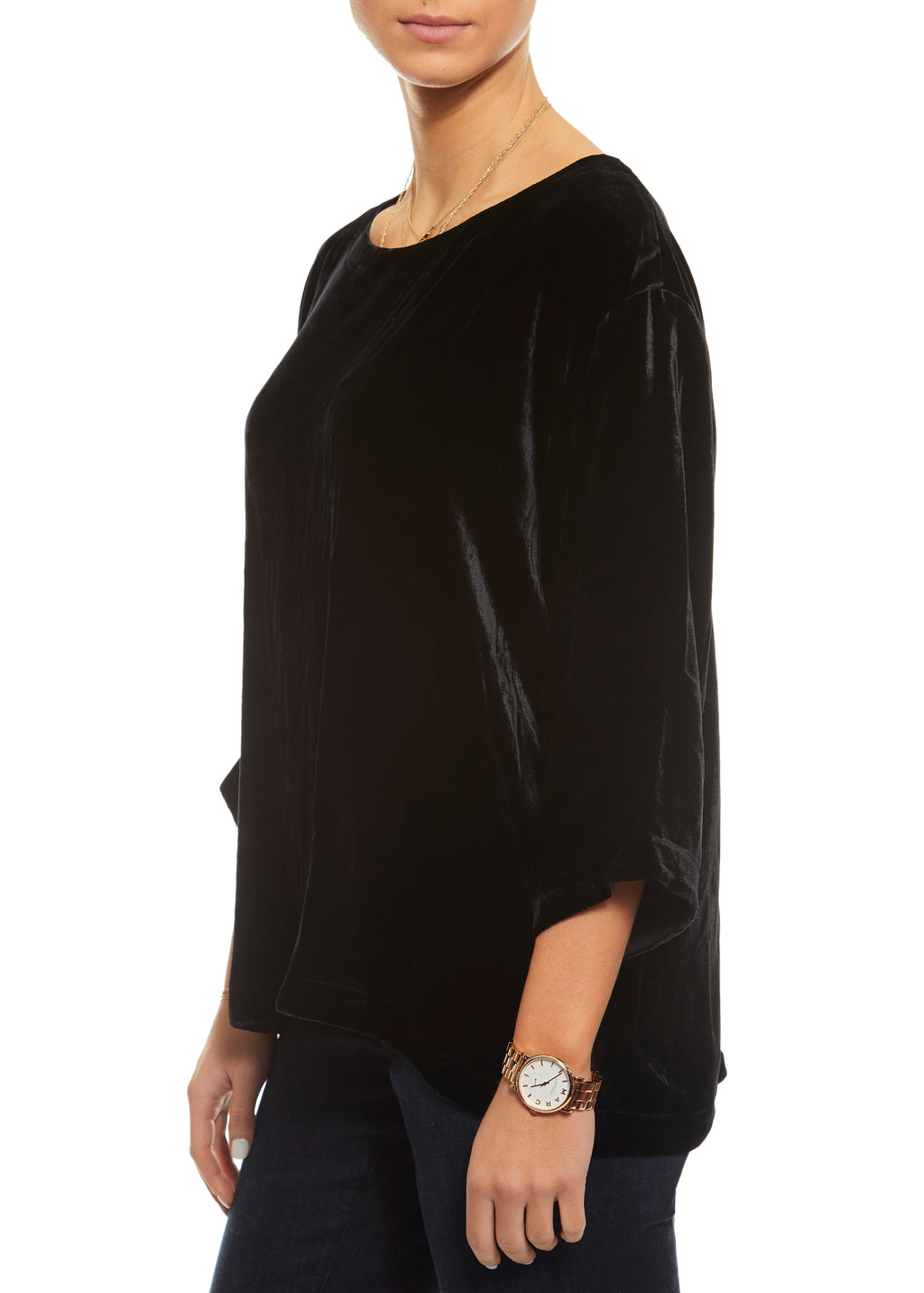 Black Velvet Ballet Box Top Eileen Fisher - Jessimara