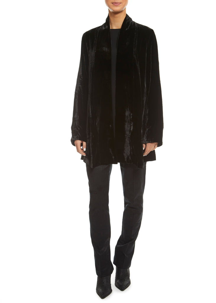 Black Shawl Collar Jacket | Jessimara London