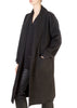 Charcoal Black Shawl Collar Coat | Jessimara London