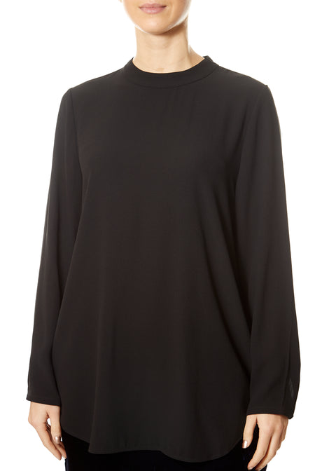 Black Mock Neck Top | Jessimara London