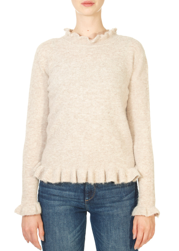 'Valeria' Granola Alpaca Sweater | Jessimara London