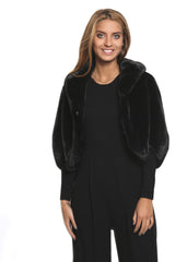 Jessimara Mink Knit Short Jacket/Cape