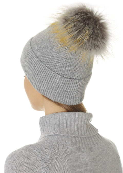 Grey Pom Beanie Hat | Jessimara London
