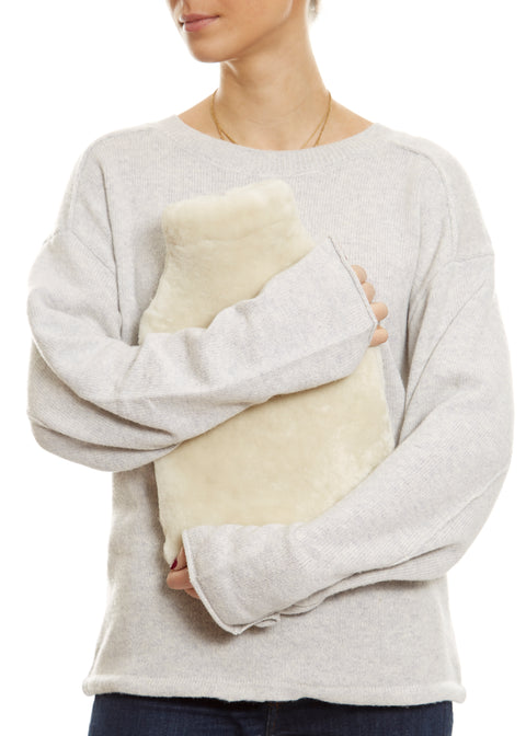 Luxury Cream Best Sheepskin Hot Water bottle | Jessimara London