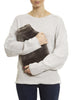 Dark Grey Criss Cross Luxury Sheepskin Slippers + Luxury Grey Sheepskin Hot Water Bottle