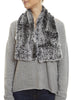 Black Snowtop Knitted Rabbit 'Loop' Luxury Fur Scarf | Jessimara London