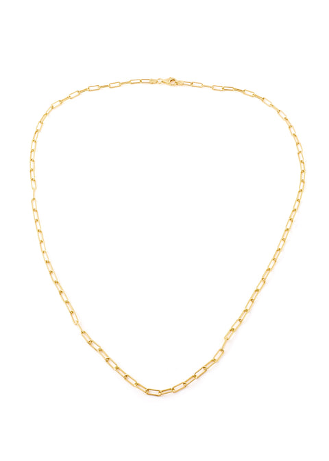 Gold Thick Rectangular Chain Necklace