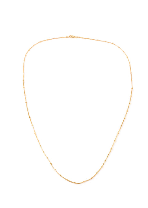 Gold Thin Ball Chain Necklace