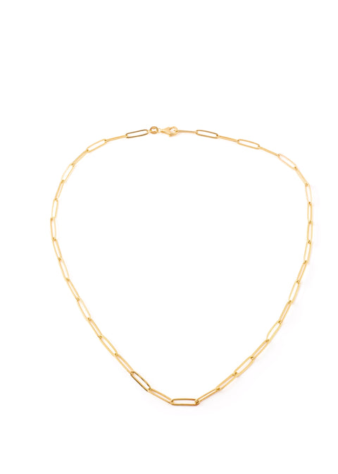 Gold Thin Rectangular Belcher Chain