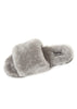 Deep Classic Grey Luxury Sheepskin Slides | Jessimara London