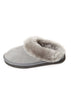 Grey on Grey Luxury Sheepskin Wedge Slippers | Jessimara London